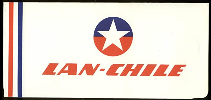 LAN-Chile Airlines airline ticket wrapper wallet unused 1960s