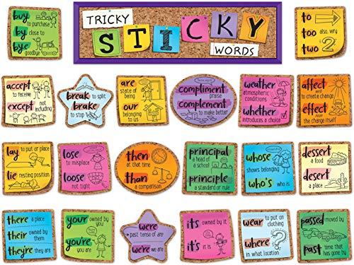 - Tricky Sticky Words Mini Bulletin Board Set
