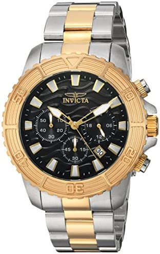Invicta Men s Pro Diver Quartz Watch with Stainless-Steel Strap, Two Tone, 22 Model 24003