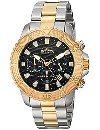 Invicta Men's 'Pro Diver' Quartz Stainless Steel Casual Watch, Color:Two Tone (Model: 24003)