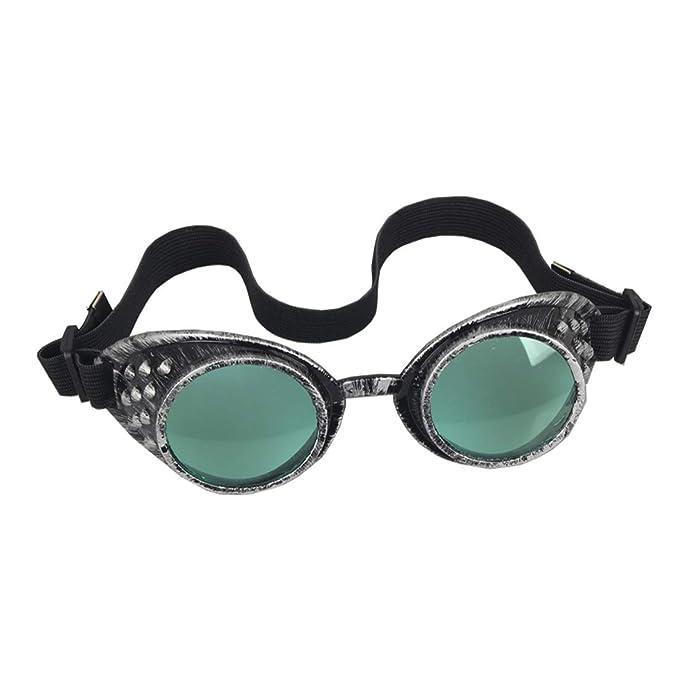 Amazon.com: OMG_Shop Steampunk Gafas de sol gafas gafas ...