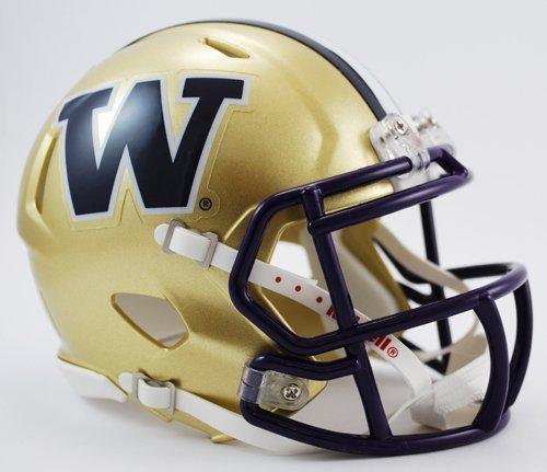 WASHINGTON HUSKIES NCAA Riddell Revolution SPEED Mini Football (Ncaa Football Helmet Decals)