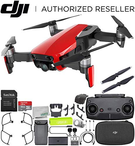 DJI Mavic Air Drone Quadcopter (Flame Red) Starters Bundle