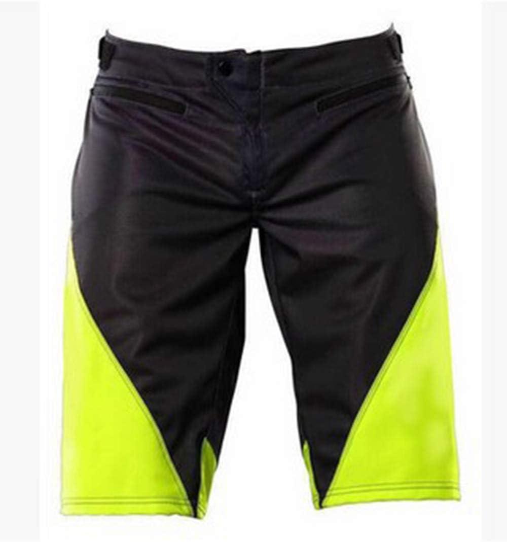 para MTB de los Deportes al Aire Libre Orange-S DTZW Pantalones Cortos de Ciclo Holgados de Hombres Transpirables Sueltos