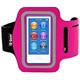 Running and Exercise Workout Armband Case for iPod Nano 8th and 7th Generation Devices with Adjustable Sport Band, Reflective Border, Touch Screen Protection and Key Holder (8 G 7 G Pink)