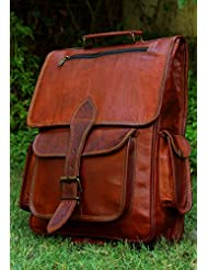 handmadecraft Vintage Bag Leather Handmade Vintage Style Backpack/College Bag