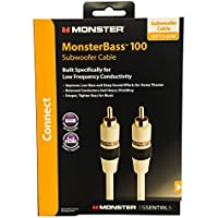 Monster Cable Essentials Powered Subwoofer Cable 12 foot MESW12
