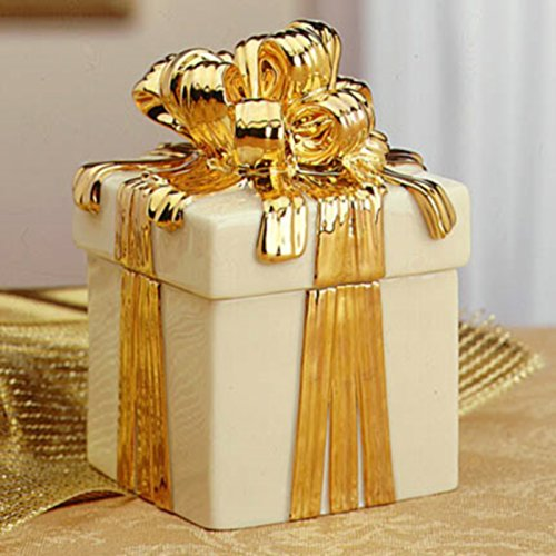 ld Ribbons and Bows on a Fine China Keepsake Trinket Box ()