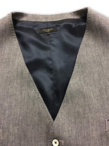 grey Waistcoat In Esquire Holland Size Navy 50r Linen AI8qpw