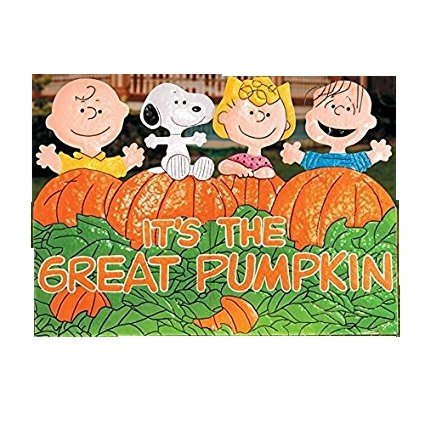 It's the Great Pumpkin Charlie Brown Metal Halloween Decoration | Perfect Home Indoor/Outdoor Decor by the Entryway, Front Porch, Lawn or Backyard