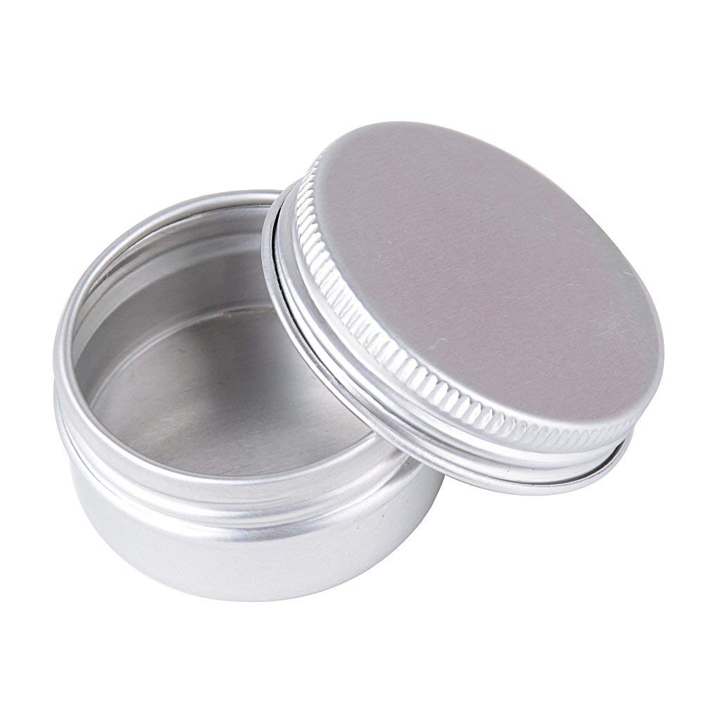 20 Pieces Round Aluminum Cans Screw Lid Metal Tins Jars Empty Slip Slide Containers for DIY Candle Craft Jewelry Sorting Storage Aluminium Tins