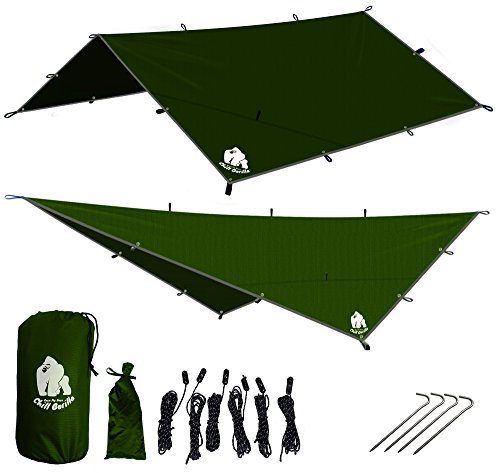 CHILL GORILLA 12' HAMMOCK RAIN FLY TENT TARP - Camping Made Easy