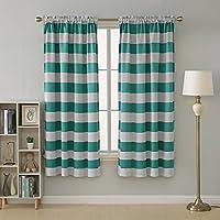 2-Pack Deconovo Striped Room Darkening Wave Striped Curtains Set