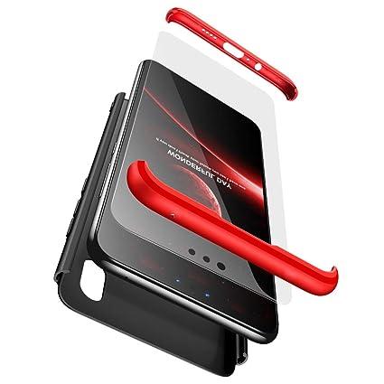 BESTCASESKIN Funda Xiaomi Mi A1, Carcasa Móvil de Protección de 360° 3 en 1 Desmontable con HD Protector de Pantalla Carcasa Caso Case Cover para ...