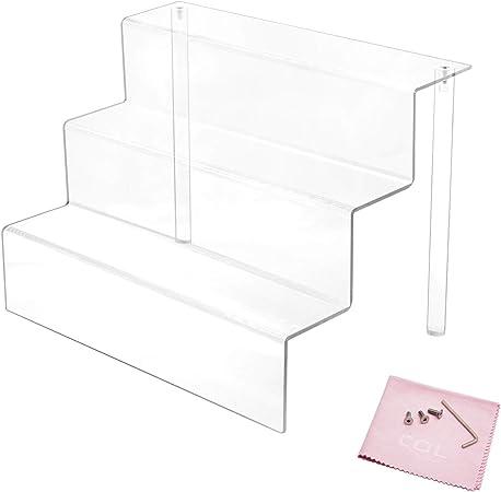 Combination of Life 30.5x21.6x22.2cm acrílico Transparente Expositor con estantes en 3: Amazon.es: Hogar