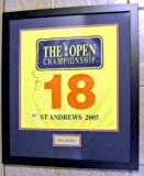Autograph Warehouse 87733 Rory Mcilroy Autographed Golf Pin Flag Framed And Matted Pro Golf Great Player Pga Tour