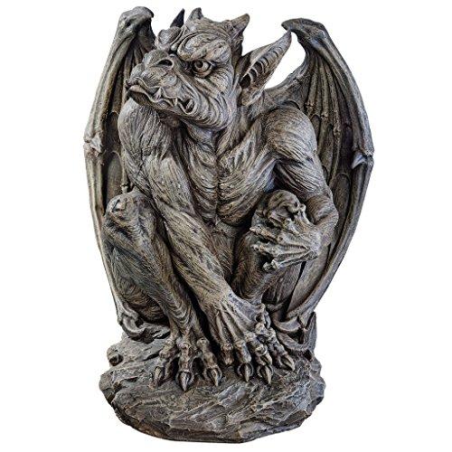 Design Toscano JE11211701 Silas The Sentry Gargoyle Gothic Decor Statue, Large, - Tall Gargoyle