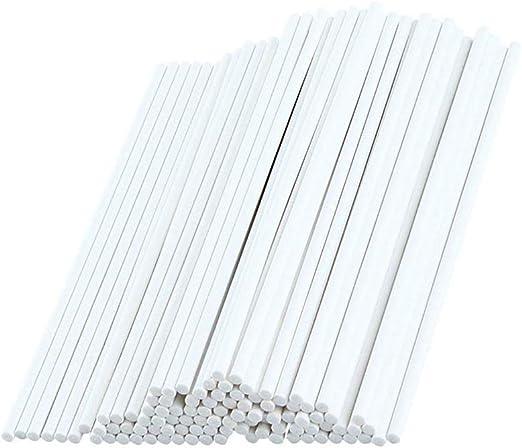 White Lollipop Sticks 100Pieces Paper Sticks for Funny Lollipop Making