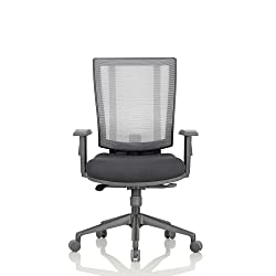 Featherlite Liberate Medium Back Desk Arm Chair (Black)