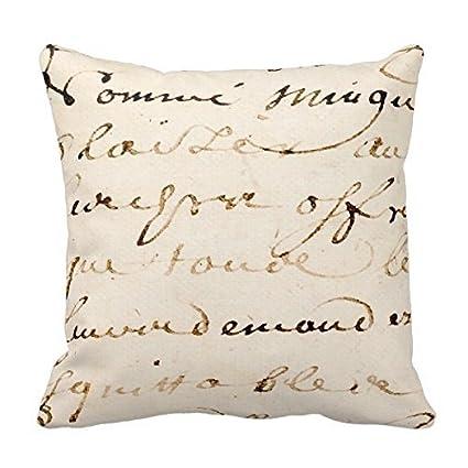Vintage Oasis love-y tan francés letra script pergamino sello cuadrado Custom manta funda de