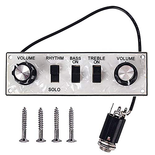 (wewa98698 Wired Alloy Control Line Plate with Knobs Violin Bass Guitar Replacement Parts)