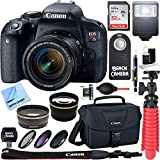 Canon EOS Rebel T7i Digital SLR Camera with EF-S 18-55mm IS STM Lens + Sandisk Ultra SDHC 32GB UHS Class 10 Memory Card + Accessory Bundle