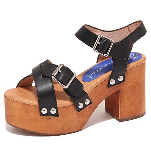 6888O sandali donna JEFFREY CAMPBELL PEASY nero scarpa shoe sandal woman Nero