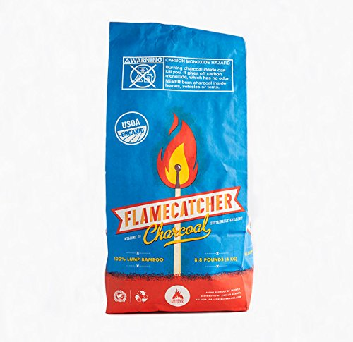 Firebud Brands Flame Catcher Charcoal - 100% USDA Certified Organic Lump Bamboo Charcoal - 2 BAGS! by Firebud Brands
