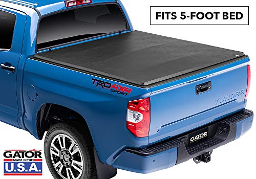 Gator ETX Soft Tri-Fold Truck Bed Tonneau Cover | 59501 | fits Nissan Frontier 2005-19 (5 ft bed) w/ factory side bed rail caps only (Bed Cover 2018 Nissan Frontier)