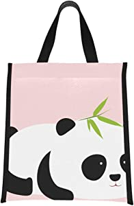 Lunch Cooler Bags Cute Cartoon Giant Panda Lunch Bag For Women Cooler Bag For Girls Reusable, Foldable Keeps Food Hot/cold For Women,men,school,office