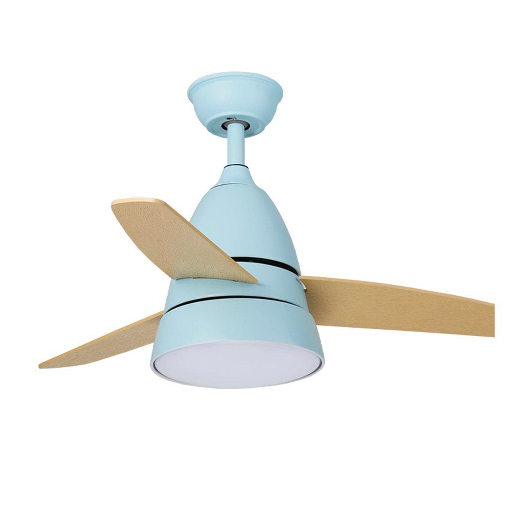 シーリングファンライト ファンライトled天井ファンライトログシャンデリア北欧レストランバーリモコン鉄ファンライト (Color : Blue, Size : 57 * 90cm) 57*90cm Blue B07J6SFZ8Y