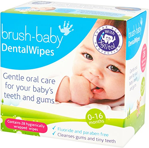 Value Box Wipes Baby - Brush-Baby Dental Wipes 28 - VALUE PACK OF 2 BOXES