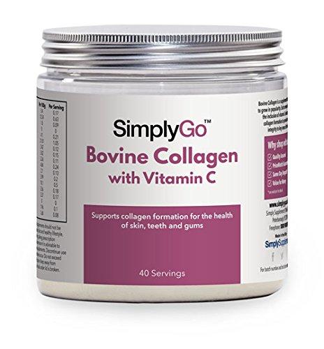 Colágeno con Vitamina C 200gr - Colágeno en polvo de gran concentración - Articulaciones, piel