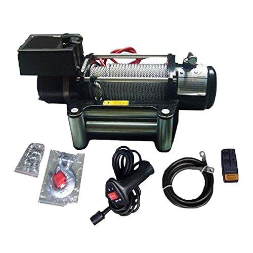 電動ウインチ Max3629kg DC24V 無線リモコン付き 強力 防水 ホイスト ウィンチ 牽引 ボート ジェットスキー 巻上げ機 B0757FJ9KV