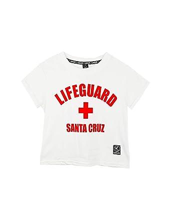 UISSOS Camiseta básica Chica de Manga Corta Estampado Lifeguard Moda De Mujer (L, Blanco): Amazon.es: Ropa y accesorios