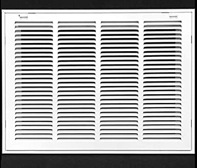 "20/"" X 12 Steel Return Air Filter Grille for 1/"" Filter Removable Face//Door"
