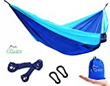 Super Lightweight and Easy Setup The backpacking hammock is easy to be set up and pack up. You will have everything you need for quick and easy hanging setup. It will take less than 3 minutes to hang your camping hammock on a tree or nearby objects u...