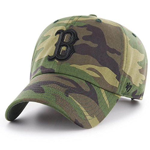 '47 Boston Red Sox Brand Unwashed Camo Clean Up Slouch Fit Hat