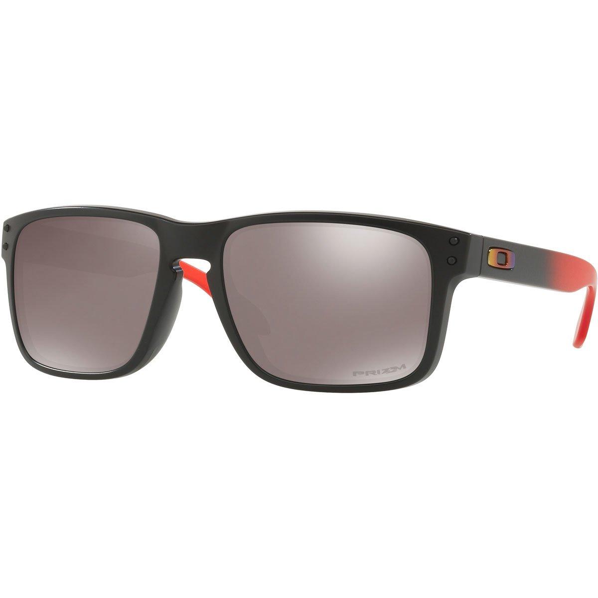 Oakley Men's Holbrook Sunglass, Ruby Fade/Prizm Black Polarized