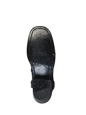 Balenciaga Herren 458678WAYFO1056 Schwarz Leder Stiefeletten