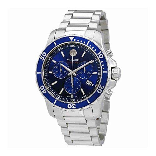 Movado Series 800 Chronograph Blue Dial Mens Watch (Mens 800 Series)