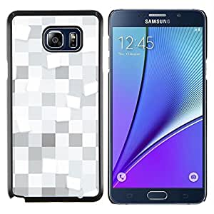 """For Samsung Galaxy Note5 / N920 , S-type Cuadrados blancos Patrón"""" - Arte & diseño plástico duro Fundas Cover Cubre Hard Case Cover"""