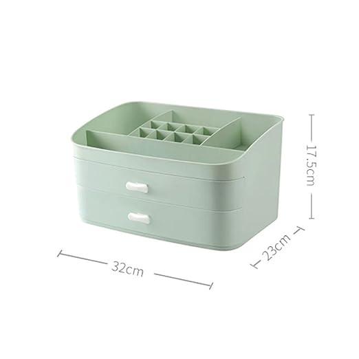 Tipo de cajón Estantería de residuos Caja de almacenamiento de cosméticos Cuadro de tocador cosmético de escritorio Cuidado de la piel Caja de ...