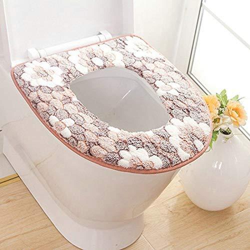 Rongxin Zachte badkamer toiletzitting Closestool Wasbare Warmer Mat Cover Pad Kussen Badkamer Toilet Toilet Toilet Seat…