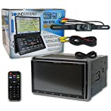Soundstream VRN-DD7HB Car Double Din 2-DIN DUAL 7 Touchscreens GPS Navigation DVD CD receiver with Bluetooth + DCO Back-up Water-Proof and Night Vision Camera