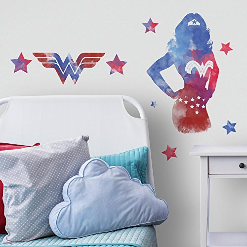 Wonder Watercolor - RoomMates Wonder Woman Watercolor Peel And Stick Giant Wall Decals
