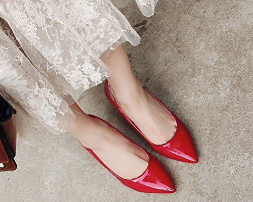 5 Femme Red Sandales Rouge EU Compensées 36 HiTime YOqFT