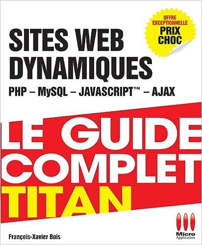 Lire SITE WEB DYNAMIQUES pdf ebook