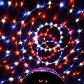 uxcell AC 100V-240V US Plug Disco DJ Stage Lighting RGB Crystal LED Magic Ball Effect Light DMX512 Digital Lamp w Remote Controller