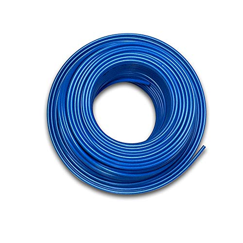 (Food Grade 1/4 Inch Plastic Tubing for RO Water Filter System, Aquariums, Refrigerators, ECT (30 Feet, Blue))